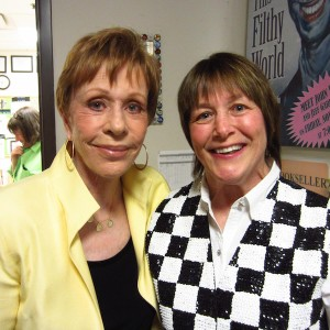 Geri with lifelong friend Carol Burnett