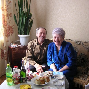 The Ukrainian Mama and Papa Jeffrey calls family