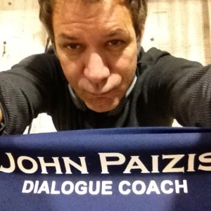 John Paizis as dialogue coach one of many roles at PASW