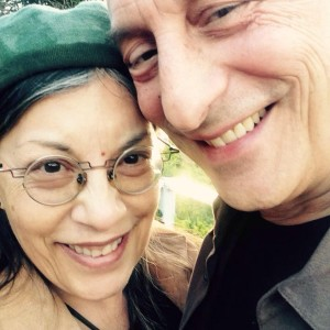 Emilio with his wife the exceptionally talented artist Ellen Kobayashi